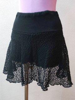パンツ付メッシュスカート(裾ひらひら)セミロング