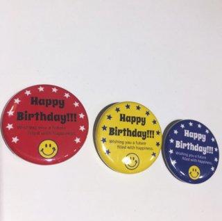 12smile HAPPY BIRTHDAY 缶バッジ