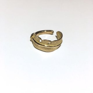 SILVER DOLLAR CRAFT K18 GOLD FEATHER RING