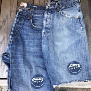 <img class='new_mark_img1' src='https://img.shop-pro.jp/img/new/icons50.gif' style='border:none;display:inline;margin:0px;padding:0px;width:auto;' />ALOHA DENIM × JOHN'S SMILE 501remake shorts