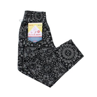 <img class='new_mark_img1' src='https://img.shop-pro.jp/img/new/icons14.gif' style='border:none;display:inline;margin:0px;padding:0px;width:auto;' />Cookman クックマン Chef Pants「Paisley」 Black