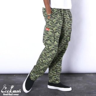 <img class='new_mark_img1' src='https://img.shop-pro.jp/img/new/icons14.gif' style='border:none;display:inline;margin:0px;padding:0px;width:auto;' />Cookman クックマン Chef Pants Cargo Ripstop Camo Green (Tiger)