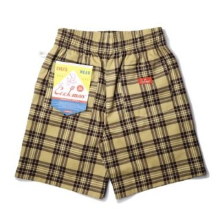 <img class='new_mark_img1' src='https://img.shop-pro.jp/img/new/icons14.gif' style='border:none;display:inline;margin:0px;padding:0px;width:auto;' />Cookman クックマン Chef Pants Short Tartan Beige