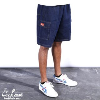 <img class='new_mark_img1' src='https://img.shop-pro.jp/img/new/icons14.gif' style='border:none;display:inline;margin:0px;padding:0px;width:auto;' />Cookman クックマン Chef Pants Short Cargo Denim Navy