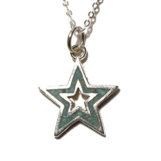 <img class='new_mark_img1' src='https://img.shop-pro.jp/img/new/icons50.gif' style='border:none;display:inline;margin:0px;padding:0px;width:auto;' />CALIFOLKS Star Donut Inlay Turquoise Necklace