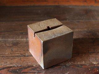 備前焼 一輪挿し(キューブ10.5cm)