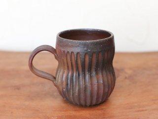 備前焼 コーヒーカップ(鎬)