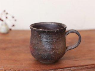 備前焼 コーヒーカップ(中) ロクロ目