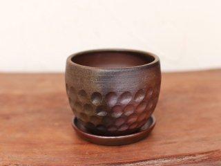 備前焼 植木鉢(受皿付き)