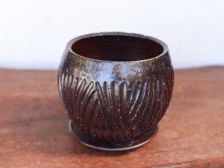 備前焼 植木鉢【受皿付き】