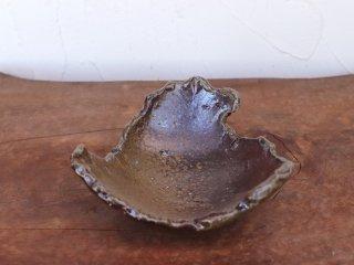 備前焼 ちぎり皿(幅約14.5cm)