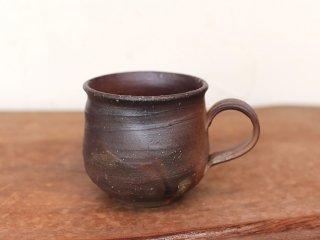 備前焼 コーヒーカップ(大)  ロクロ目