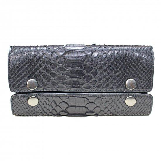 個性的で美しい模様が魅力の蛇革(パイソン)財布 Re-Bone 蛇革 FOX Wallet