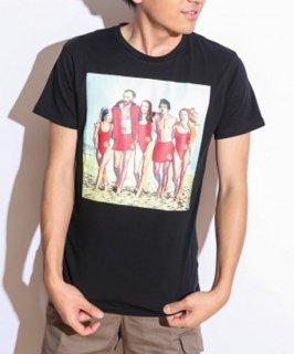 【FAKING/フェイキング】パロディアートTシャツ(ブラック:ベイウォッチ)