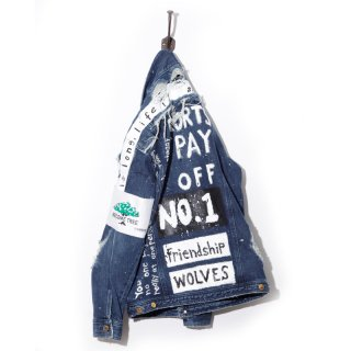 Over size 14oz Denim Jackets Ver.SCRABBLE