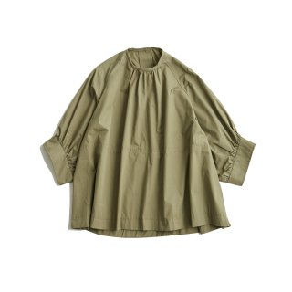 <SALE>GATHERED SLEEVE  BLOUSE
