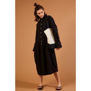 BAND COLLAR SHIRT DRESS