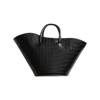 LITTLE LIFFNER OPEN TULIP TOTE CROC EMBOSSED CALF