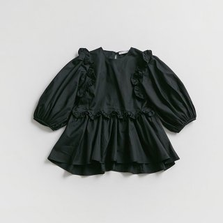 <SALE>Cecilie Bahnsen PUFF SLEEVE BLOUSE WITH RUFFLES