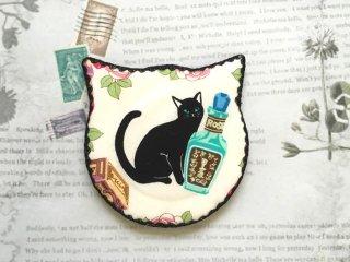 猫型ハンドミラー miramira 黒猫とコスメ