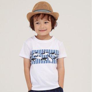 FUSEGU/Tシャツ・ペンギンストライプ