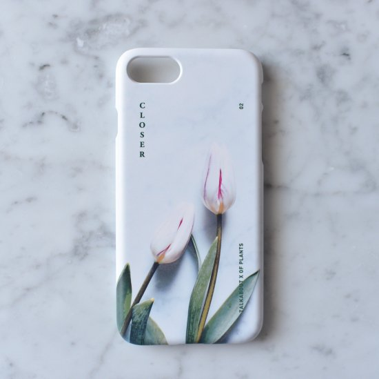 iPhone 7/8 - CLOSER white tulip phone case(TALKABOUT x OF PLANTS)