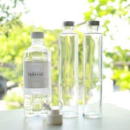 ハーバリウム専用オイル500ml(注ぎ口付)&ガラスボトル2本セット