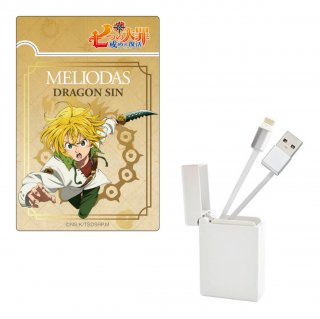 七つの大罪 戒めの復活 BOX収納型USBケーブル【メリオダス】 iPhone用