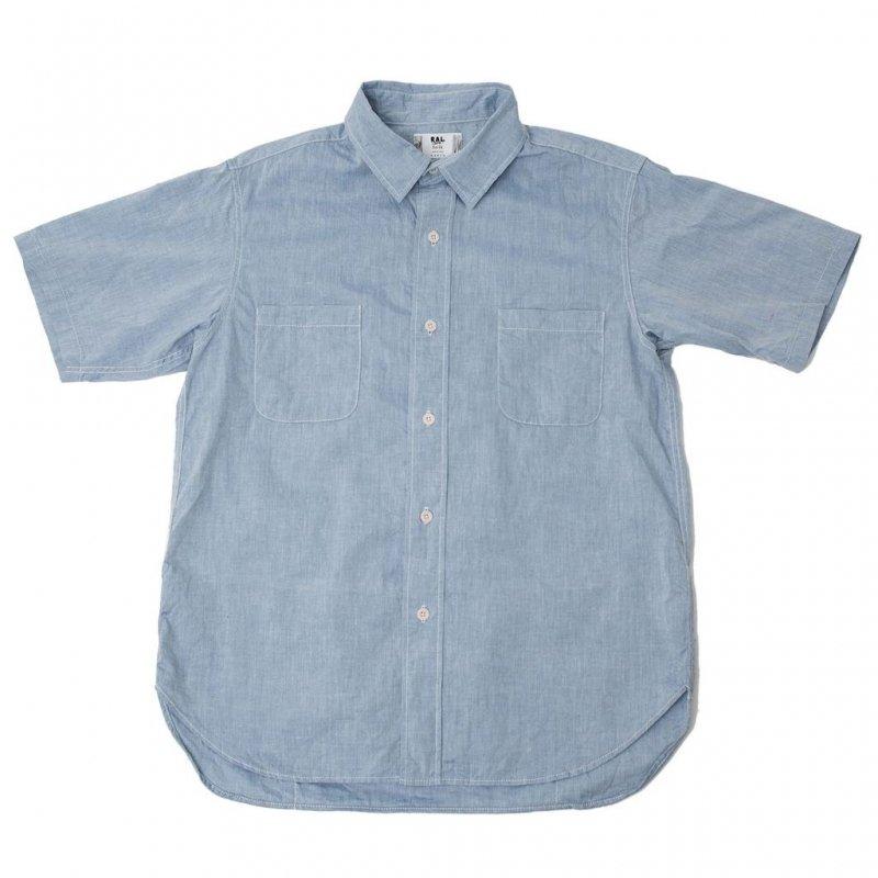 【ral/ラル】Player Short Sleeve Shirt Chambray
