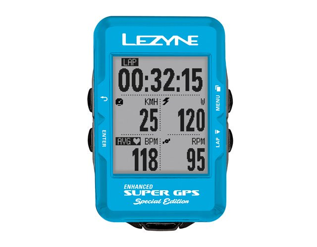【lezyne/レザイン】SUPER GPS SPECIAL EDITION BLUE