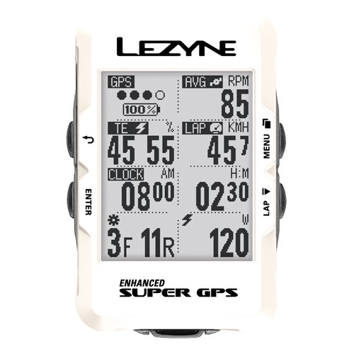 【lezyne/レザイン】SUPER GPS SPECIAL EDITION WHITE