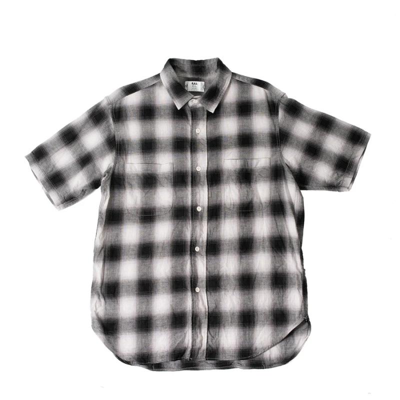 【ral/ラル】Player Short Sleeve Shirt Ombre Check