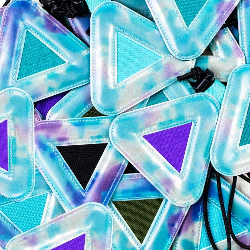 【bluelug/ブルーラグ】triangle reflector(TIE DYE)シャーベット