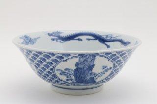 鯉の滝登り図 ラーメン鉢(うろこ)