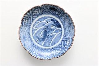 鯉の滝登り図 取皿(4寸)