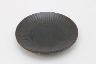 しのぎ 6寸皿 黒