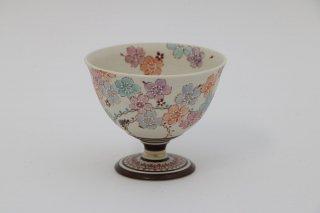 葡萄茶彩描 酒杯 桜