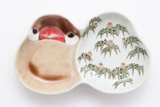 文鳥型皿 竹