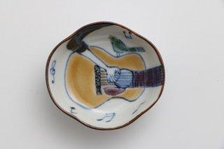 つば型 豆皿 福弾くギター