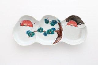 文鳥型皿 3連 松
