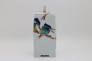 川蝉汀(みぎわ)の絵扁形香炉