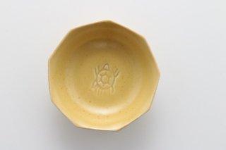 亀小皿 黄