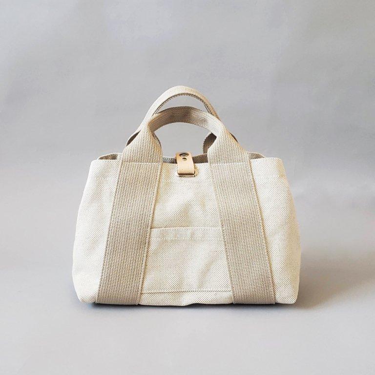 オリジナル帆布トートバッグ<br>M 綿麻×ベージュ