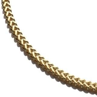 10K イエローゴールド ネックレス 幅3mm 45cm〜70cm