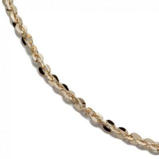 10K イエローゴールド ネックレス 幅1.5mm 40cm〜50cm