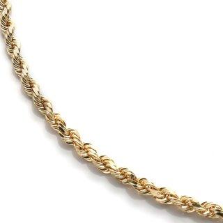 10K イエローゴールド ネックレス 幅3mm 46cm〜61cm