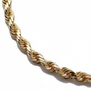 10K イエローゴールド ネックレス 幅4.8mm 61cm