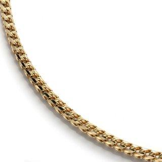 10K イエローゴールド ネックレス 幅2.8mm 46cm〜61cm