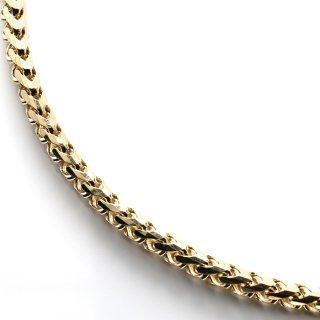 10K イエローゴールド ネックレス 幅3.2mm 46cm〜71cm