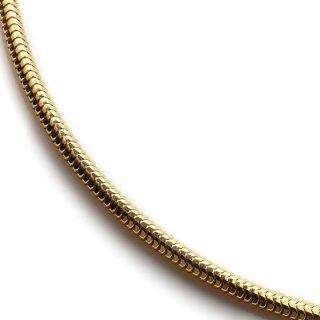 10K イエローゴールド ネックレス 幅2.5mm 46cm〜60cm